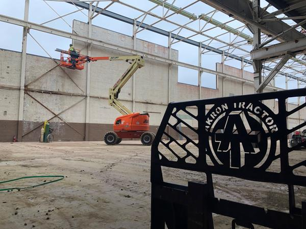 Bridgestone Americas is renovating historic Firestone production buildings in Akron as part of it's new 80,000-square-foot race tire production facility.