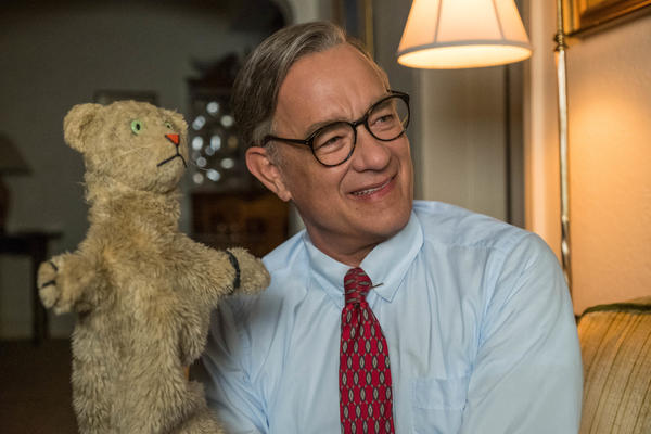 Tom Hanks stars as the beloved children's performer Fred Rogers in <em>A Beautiful Day in the Neighborhood</em>.