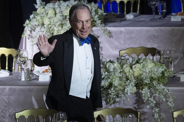 Michael Bloomberg, founder of Bloomberg LP and Bloomberg Philanthropies, arrives for the 74th Annual Alfred E. Smith Memorial Foundation Dinner in New York in October.