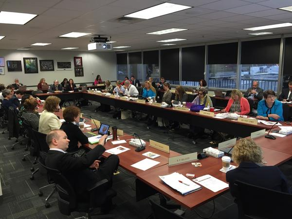 The Ohio Board of Education, in session in April 2017.