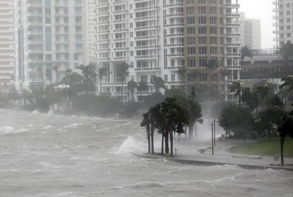 In 2017, Hurricane Irma flooded parts of downtown Miami with storm surge.