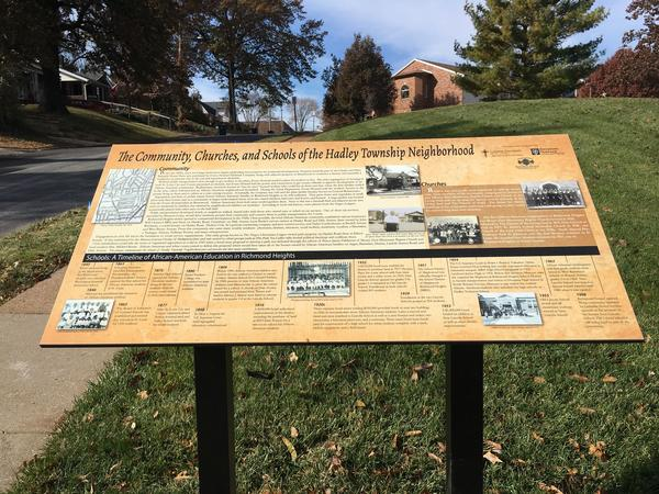 A new plaque will memorialize Hadley Township neighborhood in Richmond Heights. The historic African American neighborhood was one of a handful of places African Americans could live.