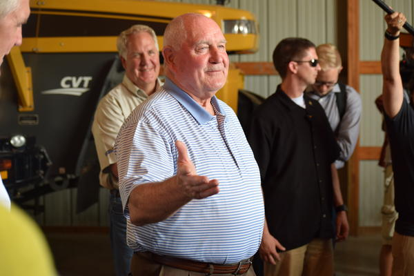 Agriculture Secretary Sonny Perdue visits Evergreen FS in Chenoa in 2017.