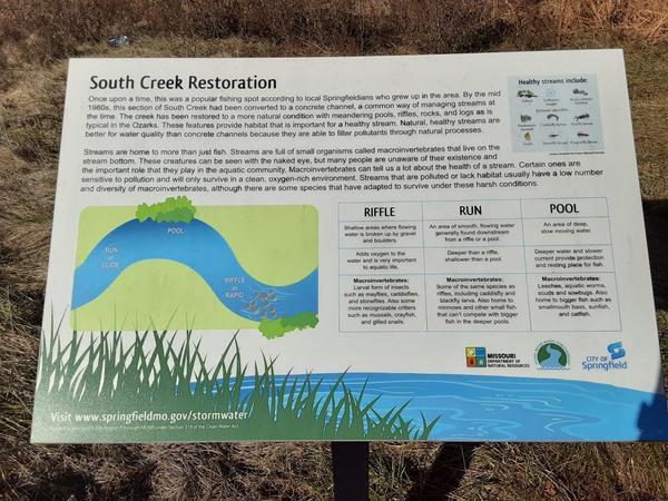 Sign Near South Creek