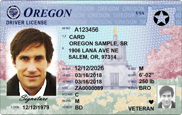 Beginning next July, Oregonians can apply for a federally-compliant state ID, signified by the star in the upper right hand corner.