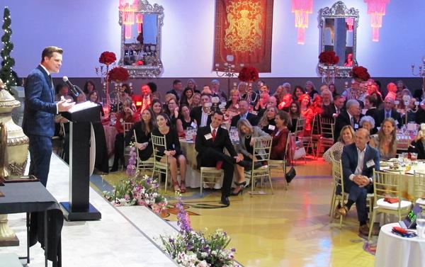 Congressman Matt Gaetz addresses the Lincoln Day Dinner