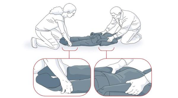"This illustration of a ""prone"" restraint came from a Minnesota Dept. of Education report on commonly-used restraints, and was featured in a 2014 ProPublica report. Minnesota enacted regulations to limit the use of prone restraint. Emergency rulemaking ena"