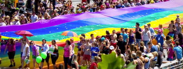 A parade during the  Utah Pride Festival in 2012.