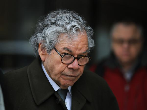 Insys Therapeutics founder John N. Kapoor leaves federal court in Boston in March.  Officials at the company have been accused of recklessly promoting a highly addictive opioid spray.