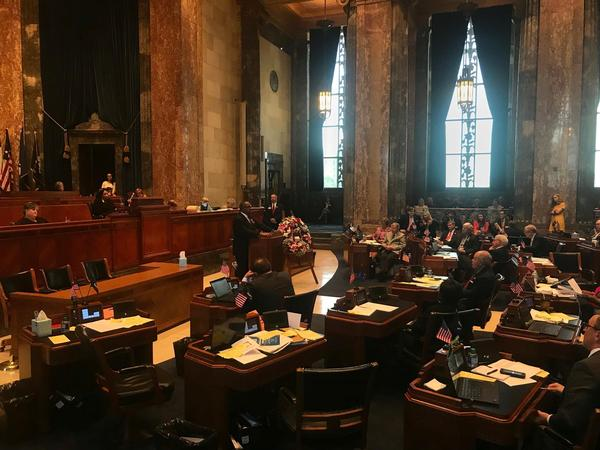 Members of the Louisiana State Senate hear SB 155 from Sen. Troy Carter (D-New Orleans) on Tuesday, May 21, 2019