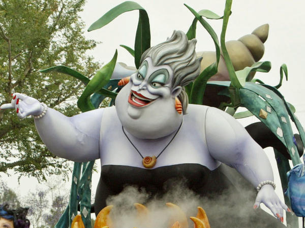 """The Ursula float from the """"Little Mermaid"""" entertains visitors to Disneyland in May 2005 in Anaheim, Calif."""
