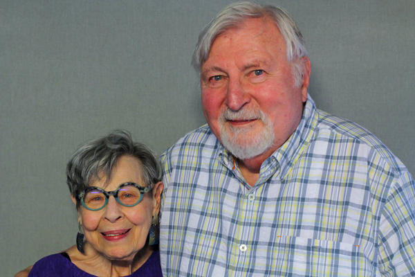 Julia and Joel Helfman, shown at their StoryCorps interview in Philadelphia in 2019, met in 1943 and were married six years later.