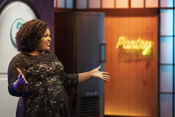 Along with pastry chef Jacques Torres, comedian Nicole Byer hosts <em>Nailed It!</em>, a show that celebrates great failures in cake-making.
