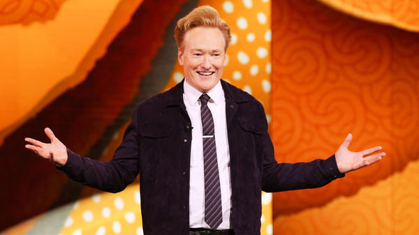 """Conan O'Brien hosts the TBS talk show <em>Conan</em>. """"I just really do love getting in front of people and making them happy, making them laugh,"""" he says."""