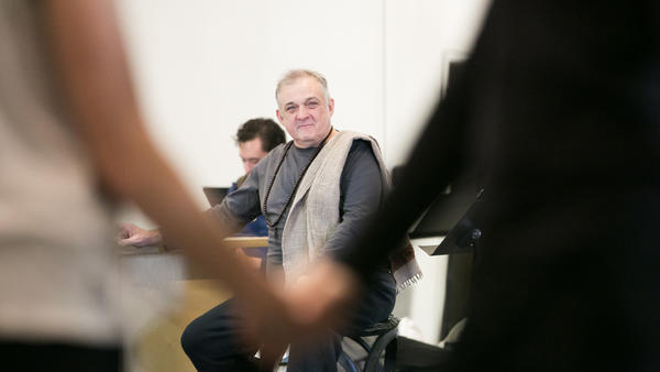 Choreographer and director Mark Morris, pictured here at a rehearsal in 2017, will release a new memoir called <em>Out Loud.</em>