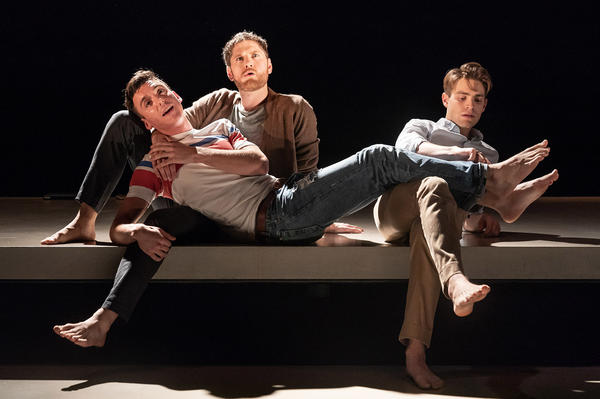 <em></em>Inspired by E.M. Forster's <em>Howards End, </em>Matthew Lopez wrote <em>The Inheritance, </em>which explores different generations of gay men, and the legacy they pass on to one another. Pictured above are Samuel H. Levine, left, Kyle Soller and Andrew Burnap.