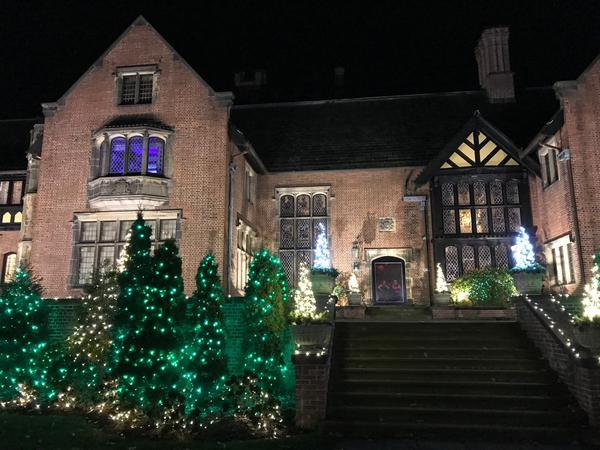 Stan Hywet Hall is lit by thousands of lights during the annual Deck the Hall.