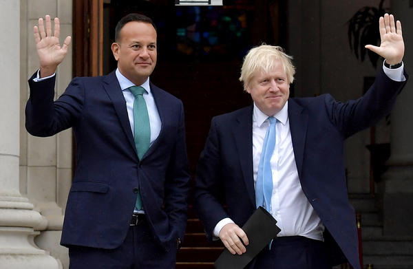 British Prime Minister Boris Johnson meets with Irish Taoiseach Leo Varadkar in Dublin. The September 2019 meeting between the Prime Minister and the Taoiseach focused on Brexit negotiations, with Varadkar warning Johnson that leaving the EU with no deal risked causing instability in Northern Ireland.