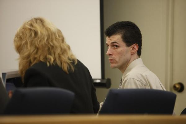 <p>Nicholas McGuffin sits during his trial in 2011.&nbsp;</p>
