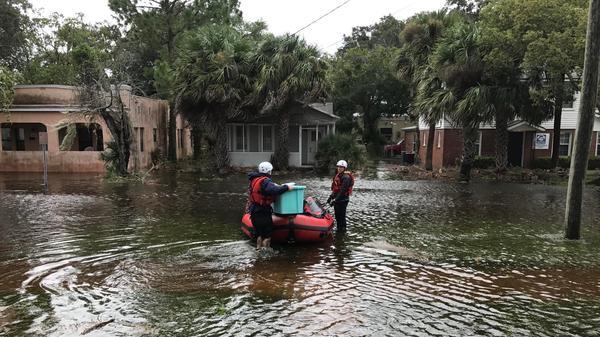 Hurricane Irma storm surge flooding San Marco homes.