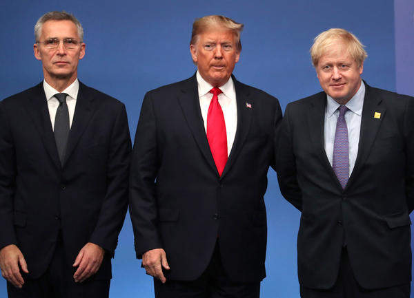 Secretary General of NATO Jens Stoltenberg,  President Donald Trump and British Prime Minister Boris Johnson all joined the  meeting of  NATO leaders this week. heads of government .