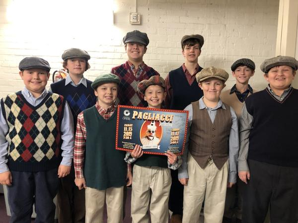 The Burlington Boys Choir after one of their performances with Greensboro Opera for the production of 'Pagliacci.'