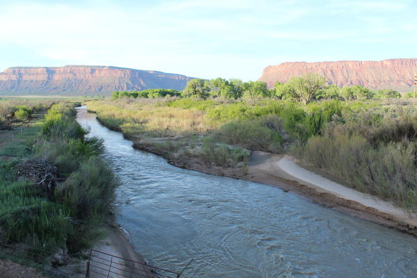 The Dolores River bisects western Colorado's Paradox Valley, and is naturally loaded with salts from briny groundwater.
