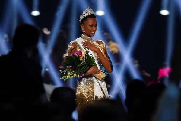 Zozibini Tunzi of South Africa takes her first walk as Miss Universe after winning the 2019 Miss Universe pageant.