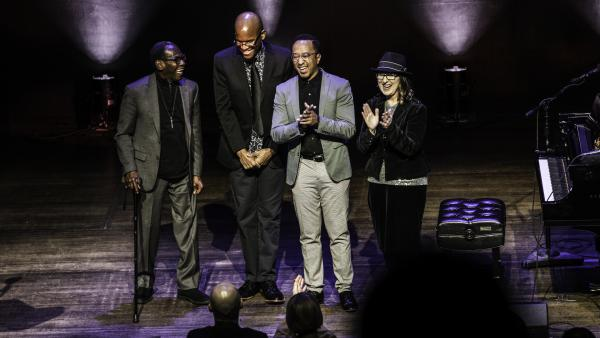 (L-R) George Cables, Joshua White, Mark G. Meadows and Rebeca Mauleón.