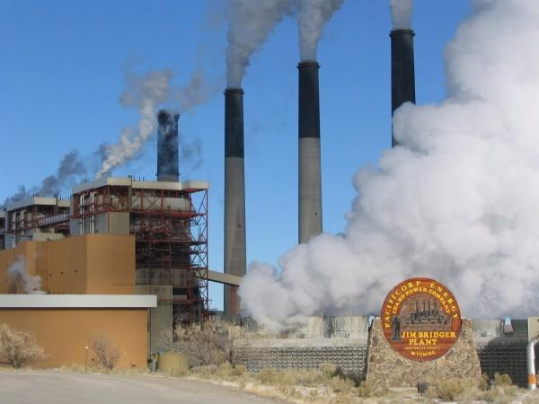 The Jim Bridger coal plant in Wyoming
