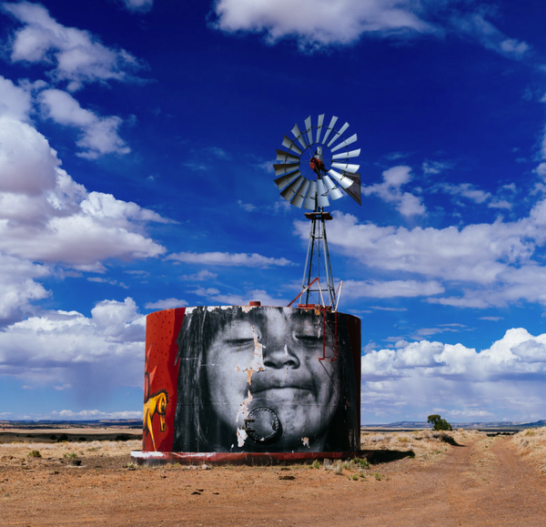 A mural on the Navajo Nation, part of the Painted Desert Project.