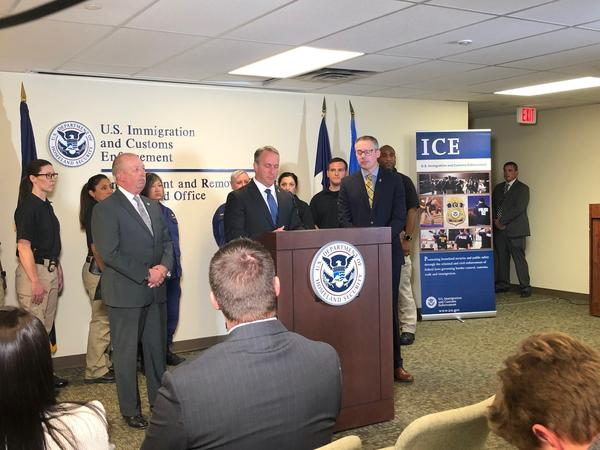 ICE Acting Director Matthew T. Albence was in Dallas Wednesday to discuss the agency's total number of arrests and removals in the 2019 fiscal year.