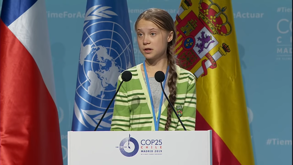 Greta Thunberg addresses nations in attendance to the United Nations conference.