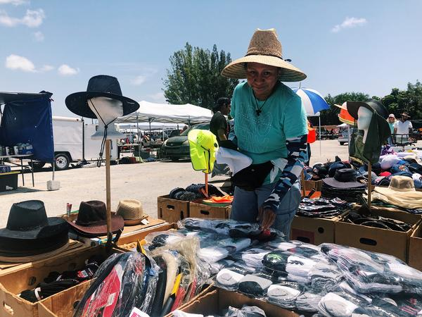 Margarita Palacios, a vendor at the Lake Worth Swap Shop for 13 years, commented on the lack of traffic on the market on Sunday,