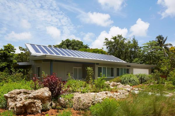 The home of Miami architect David Rifkind is made out of mostly recycled materials and generates its own electricity and water.
