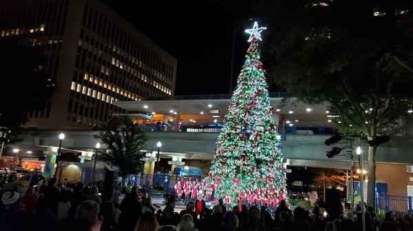 Friends, neighbors and families gathered at Hemming Park on Dec. 4 to celebrate the lighting of Downtown Jacksonville's Christmas Tree.