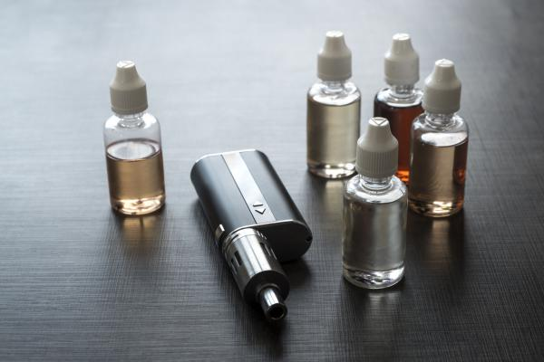 A vape device with flavor liquids.