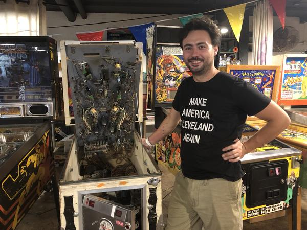 David Spasic co-owns Superelectric, a pinball restoration studio and parlor.