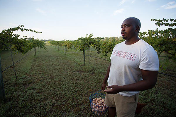 Davon Goodwin, an Army veteran, is the first in his family to pursue farming. (Courtesy)