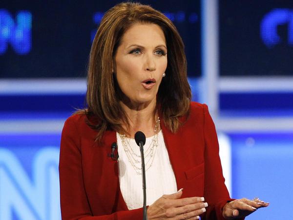 Minnesota Rep. Michele Bachmann during a Republican presidential debate Monday in Tampa, Fla.