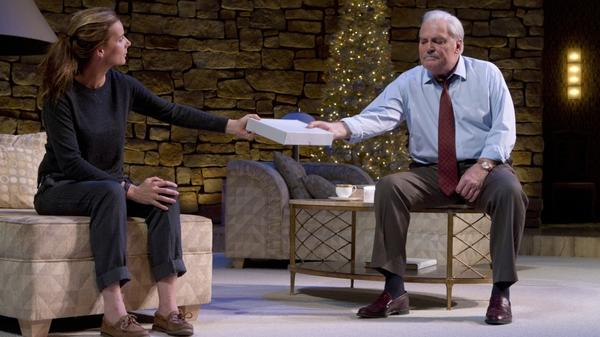 In the Broadway play <em>Other Desert Cities</em>, Brooke (played by Rachel Griffiths) forces her family to confront the truth behind her brother's suicide.