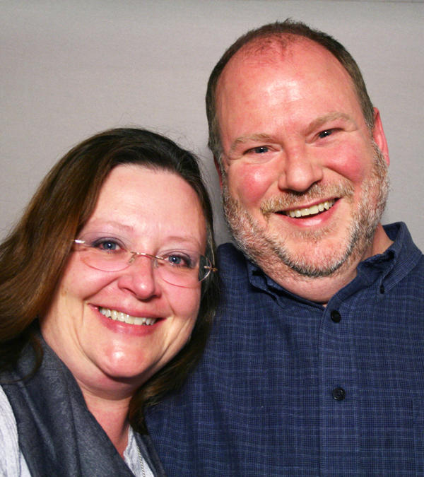 """Lisa Combest and James Hanson-Brown spoke about their marriage — and their divorce — at StoryCorps in Houston. """"Our relationship really has helped me define unconditional love,"""" Lisa says."""