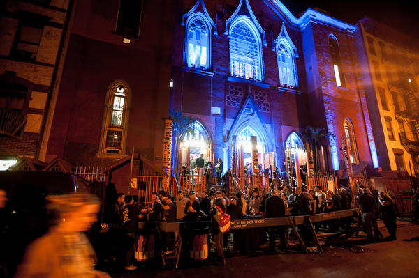 The Angel Orensanz Foundation is located in a former synagogue in the heart of New York City's Lower East Side. Built in 1849, the building's design is meant to evoke the Sistine Chapel and the temple of Solomon.