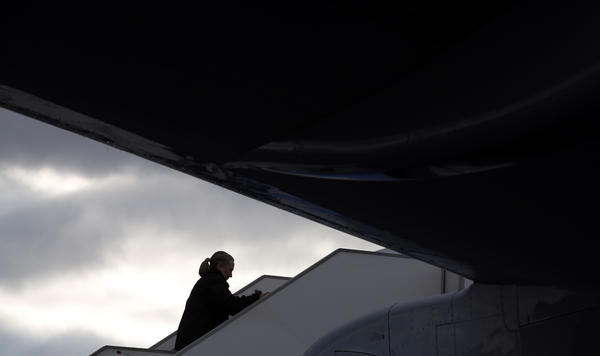 Hillary Clinton, shown here boarding a plane in Prague earlier this month, is preparing to step aside soon as secretary of state. She hasn't said what she plans to do next.