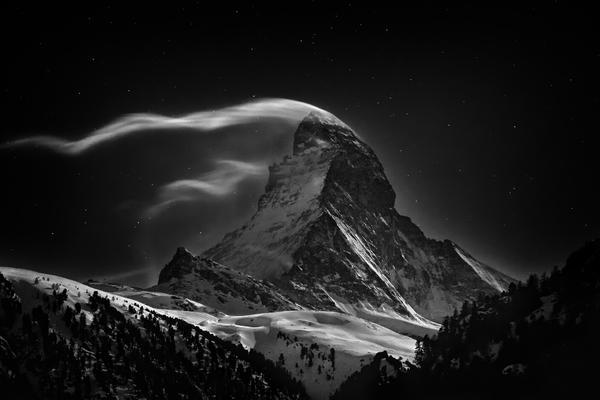 """""""The Matterhorn ... at full moon."""""""