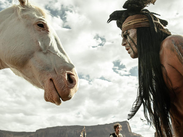 """Johnny Depp says that with his portrayal of Tonto in <em>The Lone Ranger,</em> he tried to """"right the wrongs of what had been done with regards to the representation of Native Americans in cinema."""""""