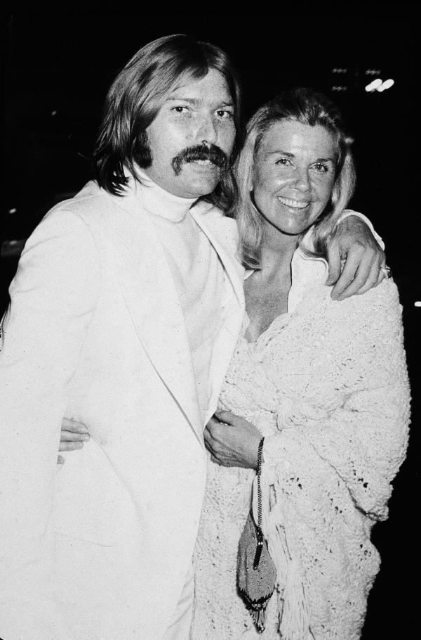 Day poses with her son, producer and songwriter Terry Melcher, in the early 1970s. Melcher also served as the executive producer of <em>The Doris Day Show</em>.