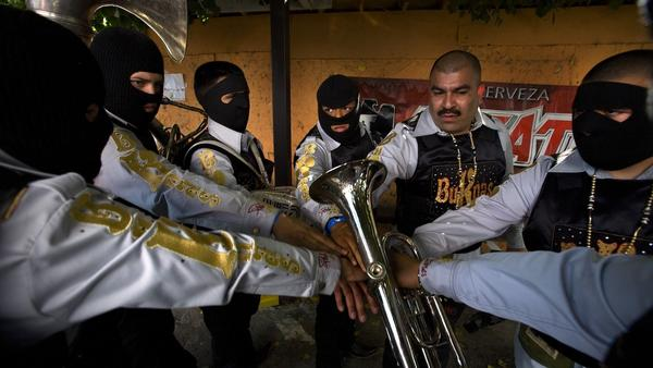 Edgar Quintero of the band Los Bukanas de Culiacan likens what he does in the narcocorrido genre to gangster rap.