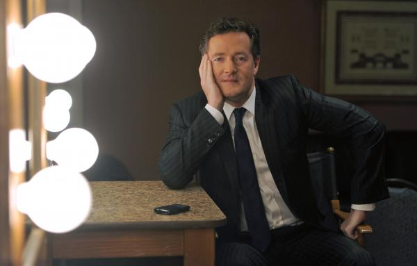 Piers Morgan poses for a portrait backstage during a 2011 press tour.