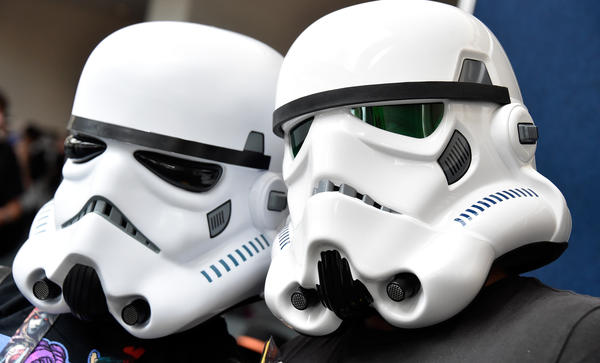 Fans dressed as stormtroopers from <em>Star Wars</em> attend this year's Comic-Con event in San Diego.